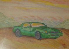 My 81 Camaro Project concept done in 2004 Still working on the actual car -Watercolor and Pencil