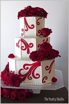Wedding Cake Pictures - Check out Wedding Cake Photos for your big day. Browse thousands of Wedding Cake Pictures today! Wedding Cake Red, Wedding Cakes With Cupcakes, Wedding Cakes With Flowers, Beautiful Wedding Cakes, Gorgeous Cakes, Pretty Cakes, Cute Cakes, Cupcake Cakes, Amazing Cakes