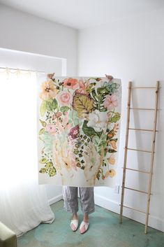 The Creator - Limited Large Size Painting Inspiration, Art Inspo, Watercolor Flowers, Watercolor Paintings, Watercolour, Drawn Art, Large Painting, Moleskine, Flower Art