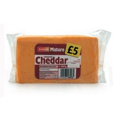 Mature cheddar cheese - I always buy the supermarkets own brand, and to my reckoning it tastes stronger than mild cheddar  so I don't have to add as much in dishes.