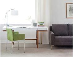 ADEL - Solid ash wood desk 65'' - White