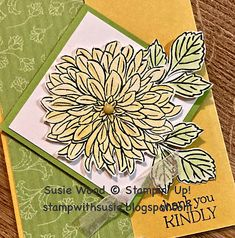 Flower Outline, Wink Of Stella, Christmas Catalogs, Cricut Cards, Stamping Up Cards, Flower Images, Pretty Cards, Flower Cards, Handmade Flowers