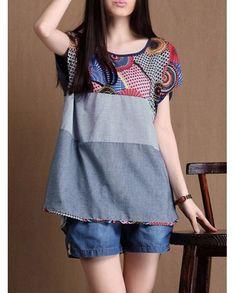 187fea2d535fd7 Striped Stitching Irregular Hem Blouse Peplum Shirts, Shirt Blouses, Blouse  Online, Cheap Womens