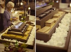 Bonfire Idea for wedding - I still love the s'mores bar idea ! This is a more elegant way of doing it!