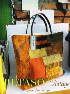 From our Retaso collection, this one of a kind bag was made from upcycled scrap upholstery fabric