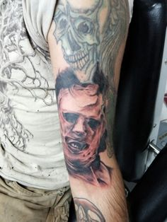 Leatherface Tattoo Done By Matt Riddle At Fenton And Piercing MI