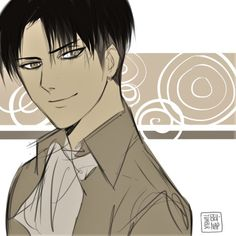 I think I have drawn Levi smiling before but here's another one just because I love seeing him happy for once xD