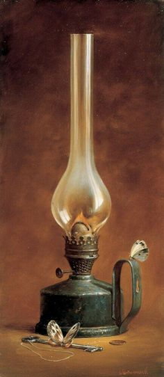 Antique Oil Lamps, Old Lamps, Antique Lighting, Vintage Lamps, Still Life Photos, Still Life Art, Old Lanterns, Kerosene Lamp, Lantern Lamp