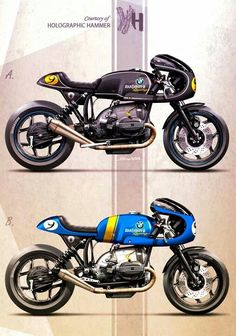 Cafe Racer Concepts - Bmw RT WalzWerk-Racing by Holographic Hammer Motos Bmw, Bmw Scrambler, Bmw Motorbikes, Bmw Motorcycles, Vintage Motorcycles, Bmw Cafe Racer, Cafe Bike, Custom Cafe Racer, Retro Motorcycle
