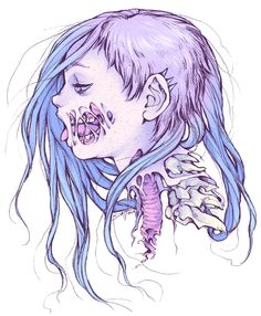 Pastel Gore Girl Art Print by Savannah Horrocks