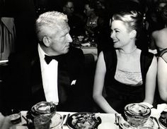 Grace Kelly and Spencer Tracy Golden Age Of Hollywood, Hollywood Stars, Classic Hollywood, Old Hollywood, Prince Of Monaco, Harvey Girls, Monaco Royal Family, Odd Couples, Princess Caroline