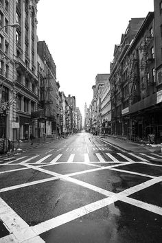 Of course the one day SoHo is empty of tourists all the stores are closed, just can't win.