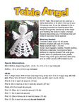 Ravelry: Table Angel pattern by Eric Elson - Her Crochet Angel Crochet Pattern Free, Crochet Snowflake Pattern, Crochet Angels, Christmas Crochet Patterns, Crochet Snowflakes, Christmas Angel Ornaments, Crochet Christmas Decorations, Crochet Decoration, Crochet Ornaments