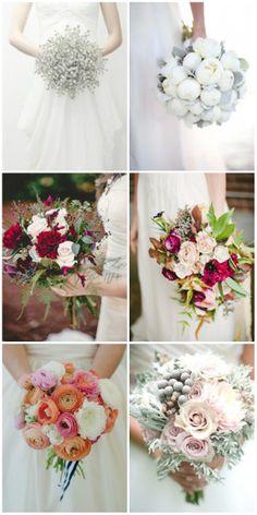 elegant winter wedding bouquets