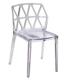 Fine Mod Imports Zig Zag Dining Chair - Clear - Accent any space with the modern look of the Fine Mod Imports Zig Zag Dining Chair – Clear. This contemporary chair is made of molded clear acry...