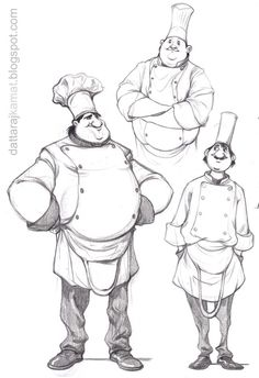 illustration, figure, man, front, crossed arms, hands on hips, chef. http://pinterest.com/characterdesigh