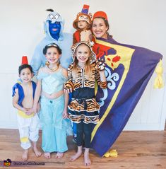 Halloween Costume Contest, Funny Halloween Costumes, Aladdin Halloween, Family Theme, Costume Works, Magic Carpet, Free Pattern, Dads, Cosplay