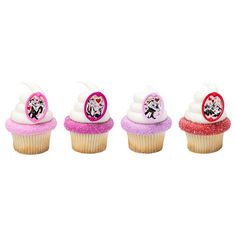 Looney Tunes Pepe & Penelope L'Amour Cupcake Rings