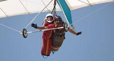 Tandem hang gliding at Torrey Pines Gliderport near San Diego, CA