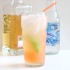 The Paloma:  1 large lime wedge Kosher salt (optional) Ice to mostly fill a 12 ounce glass 2 ounces freshly squeezed grapefruit juice  1 1/2 ounces tequila 2 ounces simple syrup or agave nectar to taste Sparkling water to top off