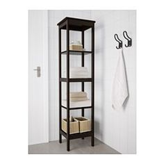 IKEA - HEMNES, Hylle, beiset, brunsvart, , De åpne hyllene gir enkelt oversikt og er enkle å nå.