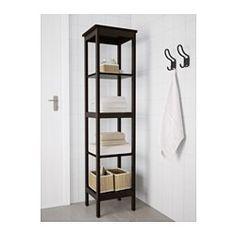 HEMNES Regal, schwarzbraun gebeizt - 42x172 cm - IKEA