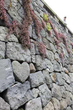 Heart stone built into river walls in Nagasaki, Japan. I would love to put a heart stone into a garden wall someday