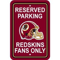 Redskins Fans Only.