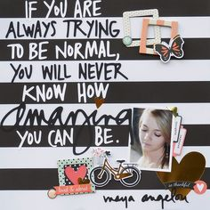 Black and White is a fantastic base for a layout @heylittlemagpie #simplestories #heylittlemagpie #iam