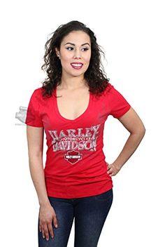 Harley-Davidson Womens Open Opportunity Wings Red Short Sleeve V-Neck - SM. Harley-Davidson Womens Open Opportunity Wings Red Short Sleeve V-Neck. Specific Color: Crimson. Dealer Customized Item (BARNETT HARLEY DAVIDSON). 100% Cotton. Officially Licensed Harley-Davidson Product by VF Imagewear.