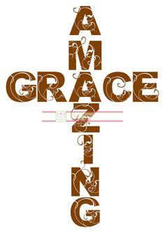 Amazing Grace wall art  http://pinterest.com/vinylchatter/vinyl-chatter/