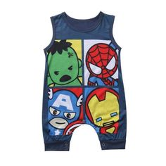 For Sale - Pudcoco Baby Romper Newborn Infant Baby Boy Girl Cartoon Super Hero Hulk Cotton Sleeveless Romper Jumpsuit Clothes Outfit 2 Baby, Baby Kind, Baby Boy Newborn, Baby Boys, Kids Boys, Baby Outfits, Toddler Outfits, Toddler Pants, Pyjamas
