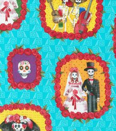 Novelty Cotton Fabric- Vignettes