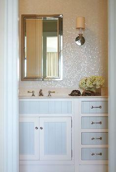 bathroom--love the tile on the wall