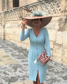 Elegant Mother of the Bride Dresses for Wedding Plus Size Knee Turquoise Long Sleeve V-Neck Buttons vestido de madrinha Church Dresses, Mob Dresses, Cute Dresses, Bride Dresses, Races Fashion, Fashion Wear, Fashion Dresses, Mother Of Bride Outfits, Mother Of The Bride