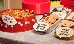 Charlie Brown birthday party ideas