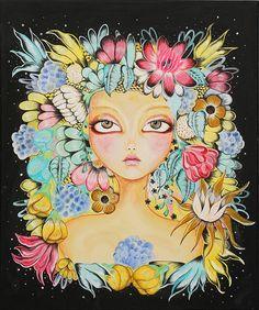 Desenhos, ilustrações e pinturas da artista brasileira Baiá;