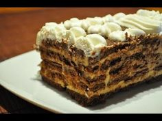 ▶ Tarta de Chocolate con Galletas | Receta casera | Receta facil - YouTube