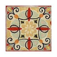 Bohemian Rooster Tile Square II Art Print Poster by Daphne Brissonnet ($26) ❤ liked on Polyvore featuring home, home decor, wall art, photo picture, bohemian style home decor, bohemian wall art, rooster home decor and rooster picture