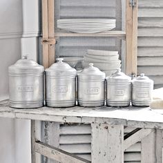 Vintage French Kitchen Canisters   Flickr - Photo Sharing!