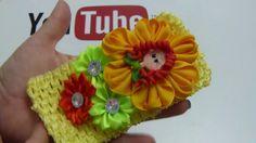 Balacas infantiles flores Nuevo diseño listón gros , video 566