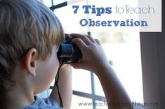 As a Charlotte Mason educator, observation is an important aspect to implementing nature studies. As adults, we tend to be less observant than children, however it is a skill that needs to be taught to gain the best benefits.  Here are 7 tips to teach observation to your children (and maybe you, too): Spend …