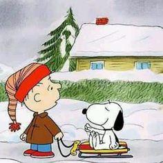 Linus & Snoopy's snow day
