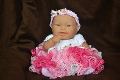 Ravelry: Ruffles and Roses Dress Set for 14-15 inch Baby Doll pattern by Amy Carrico