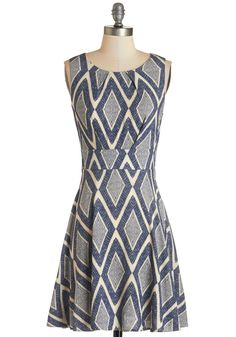 Name of the Game Night Dress in Diamonds, @ModCloth