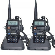 2pcs Baofeng UV-5R Walkie Talkie 128 Dual Band UHF&VHF 136-174MHz & 400-520MHz Baofeng UV 5R Portable Radio 5W Two Way Radio  Price: 77.00 & FREE Shipping  #tech #electronics #home #gadgets