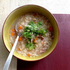 Rice Soup with Pork