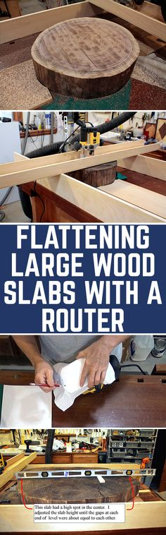 Wood slabs can make great tables. The problem is getting them flat. The coolest slabs are usually too big to go through a planer or sander, and end grain slabs shouldn't go through a planer anyway. Fortunately, there is an easy way to flatten any oversized board using a shop-made jig and a router. Here's how.