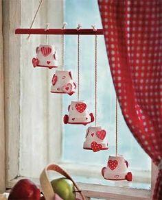 Colgante decorativo con macetas pequeñas   Manualidades de hogar