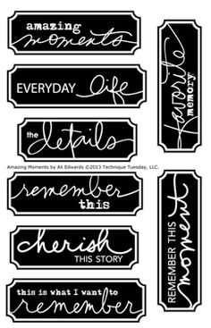 We just cant get enough of labels can we? - Technique-Tuesday-Amazing-Moments-Ali-Edwards-Clear-Stamps-Medium